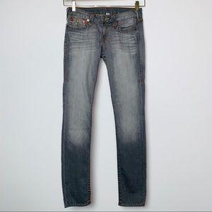 True Religion Skinny Flap Pocket Jeans Mtn Meadows